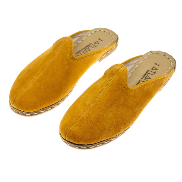Yellow Slippers - Turkish Slippers for Women & Men : Atlantis Handmade Shoes