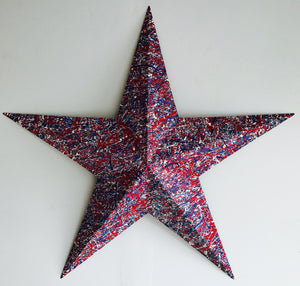 Large Red, White & Blue Steel Patriotic Star