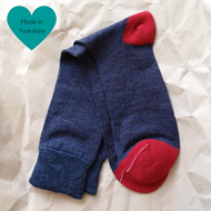 Blue & Red Paired Socks