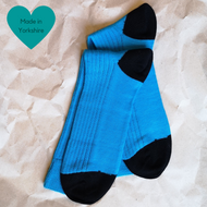 Teal & Black Paired Socks