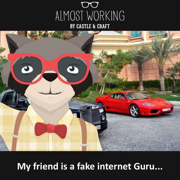 My friend is a fake internet Guru