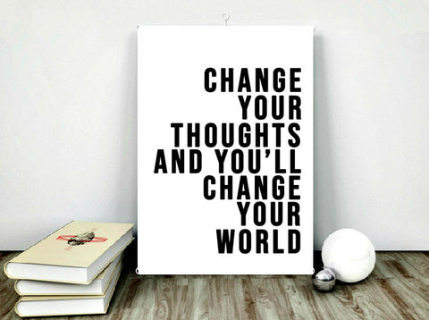 Change the world print