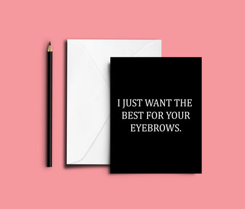 Eyebrows Card