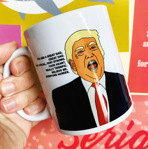 Great dad Donald mug (white handle)
