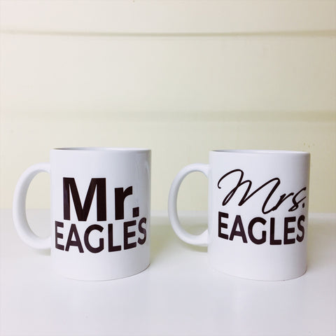 Mrs and Mrs mugs
