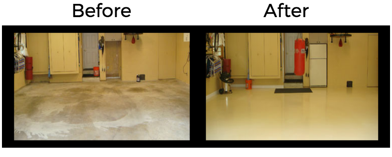 Before and After Garage Floor