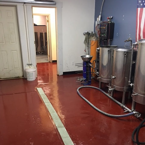 Brewery Floor Coating Epoxy - Tile Red