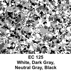 EC 125 White Dark Gray Neutral Gray Black Decorative Fllecks