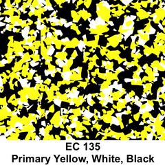 EC 135 Primary Yellow, white, Black Decorative Flecks