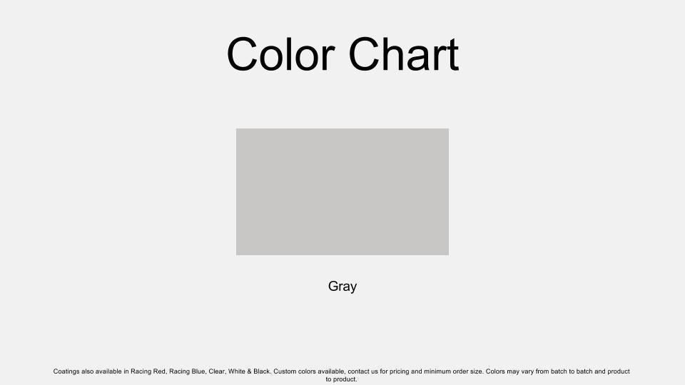Gray Epoxy Color Chart