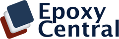 Epoxy Central Logo Blue Lettering