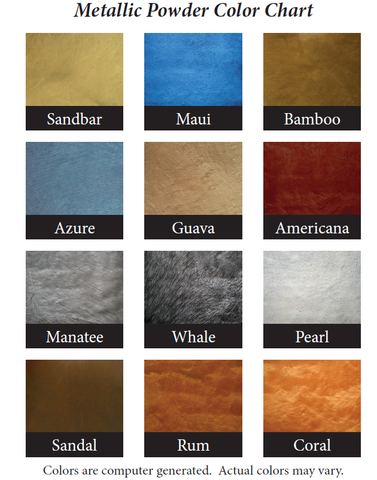 Commando Coat 600X - Metallic Epoxy Kit Color Chart