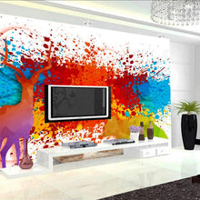3d Wall Murals Watercolor Colorful Animal World Modern Wallpaper Thicken TV  Background Study Kitchen Wall Mural