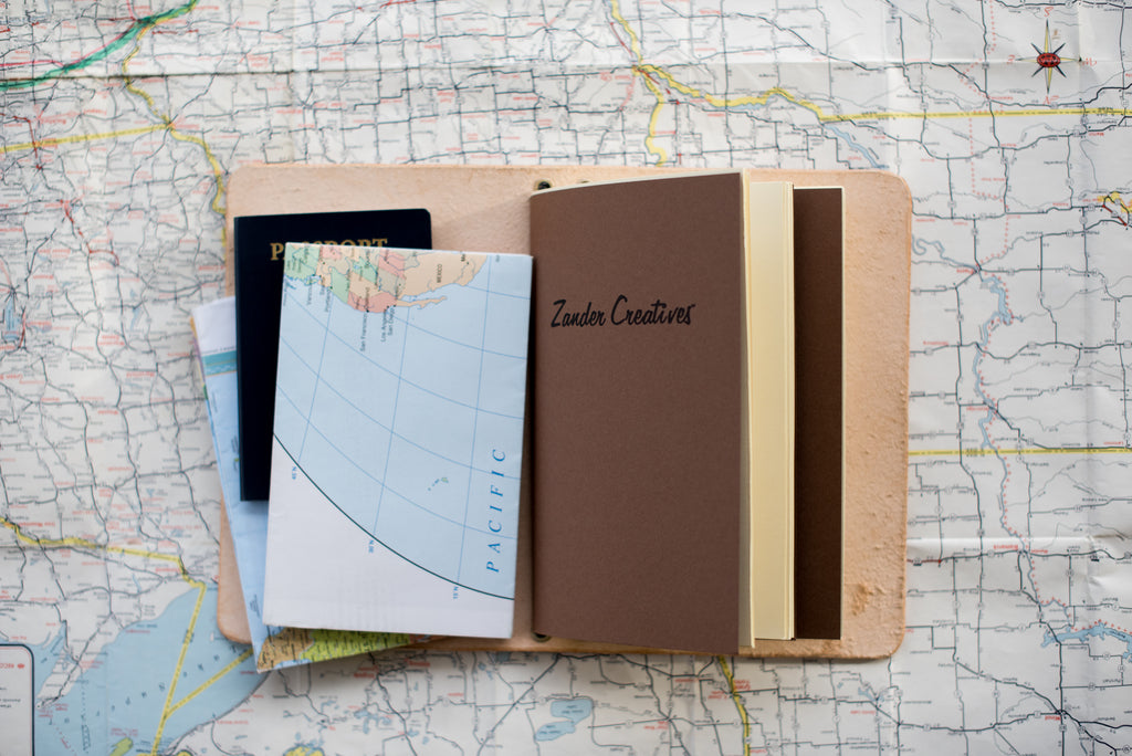 Full Size Tan Notebook - Zander Creatives