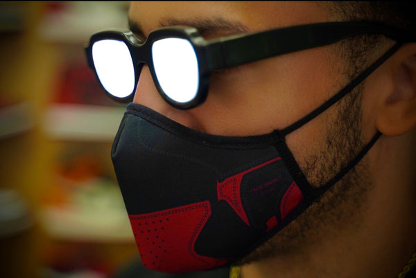"Goodknews ""1985 OG BRED 1"" Face Mask - Black/Red"