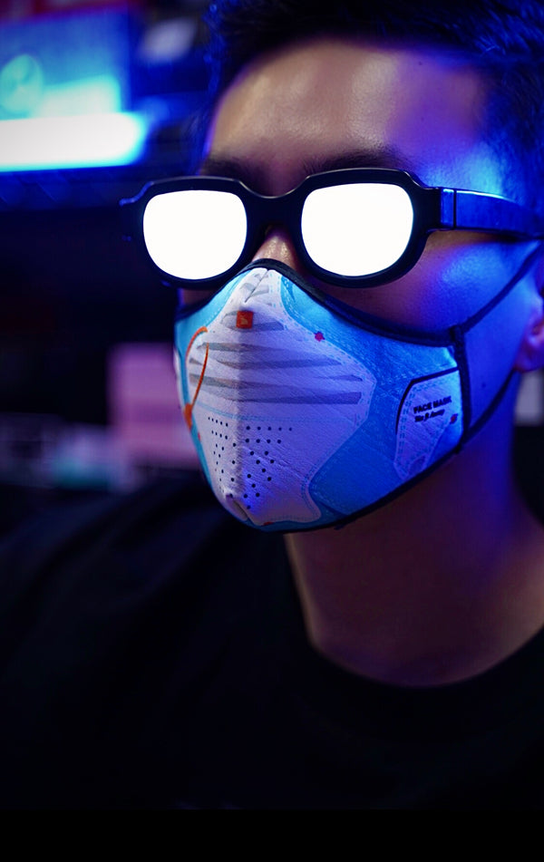 "Goodknews ""OFF J4"" Face Mask - Blue"