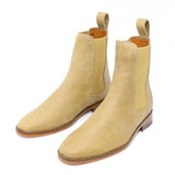 Sand Distressed Chelsea Boot