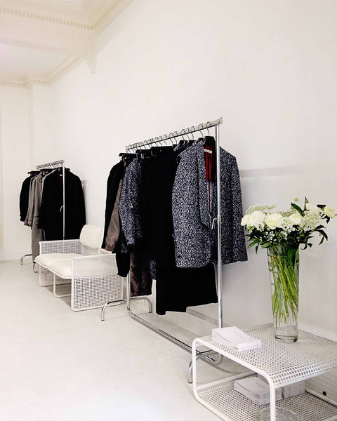 Christopher Vaughan showroom interior and merchandising for Emiliano Rinaldi ss16