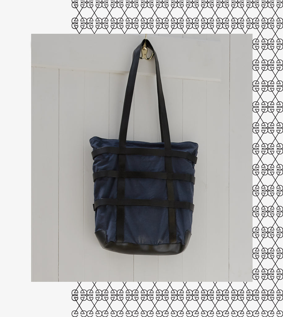 Anglo-Japanese Tote Bag - Blue / Black