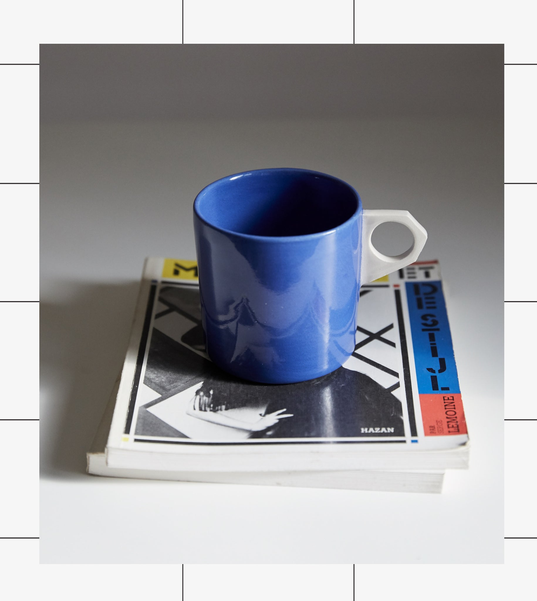 Gridware Coffee Can - Blue / White