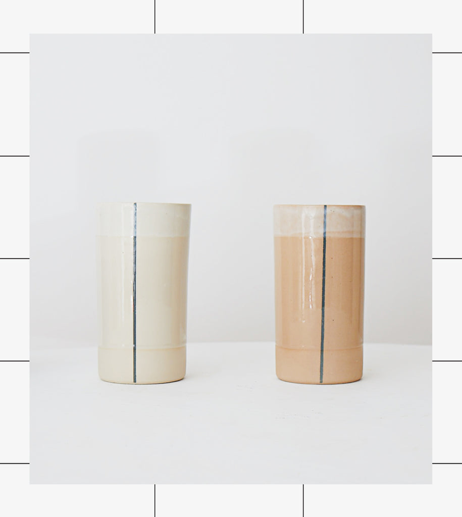 Gridware Small Vase - Nude