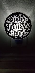 Waitress Musical Inspired Sugar Butter Flour Night Light