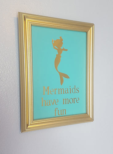 Little Mermaid Inspired Mermaids Have More Fun Gold Foil Print