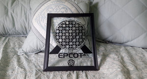 FRAMED Disney EPCOT Center inspired Vinyl Float Frame Print