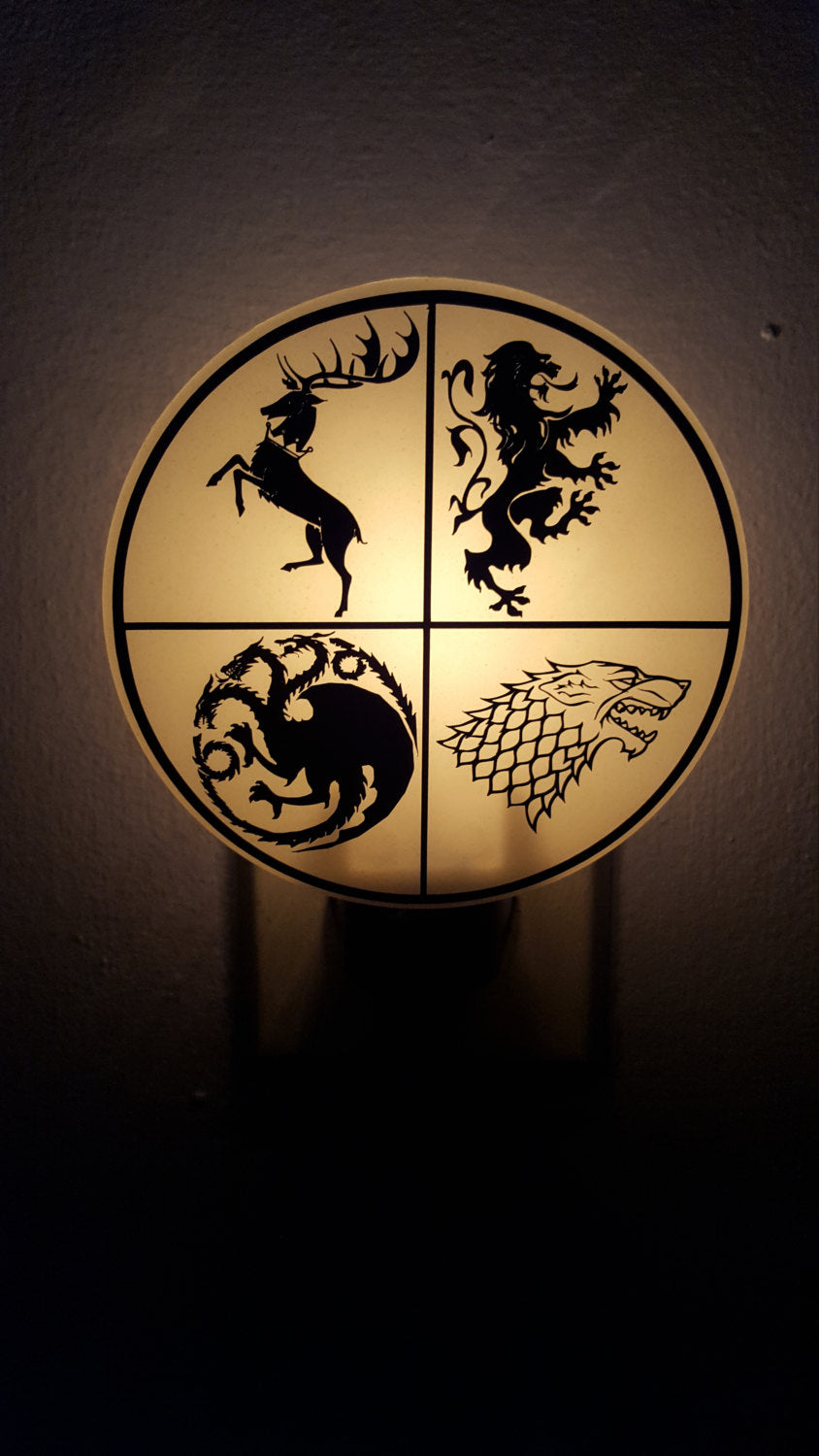 Game of Thrones inspired House Sigil Night Light