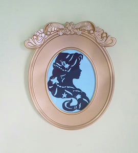 SALE! 2 for 30 CUSTOMIZE Character Cameo in Gold or Silver Oval Frame Disney Inspired