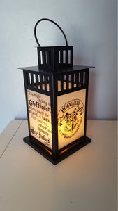 MEDIUM Harry Potter Inspired Hogwarts Gryffindor House Lantern, Frosted or Clear Glass