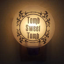 Haunted Mansion Inspired Night Light Series, #5 Tomb Sweet Tomb in Wrought Iron Style Frame