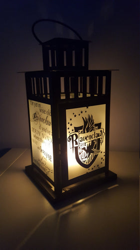 MEDIUM Harry Potter Inspired Hogwarts Ravenclaw House Lantern, Frosted or Clear Glass