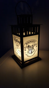 MEDIUM Harry Potter Inspired Hogwarts Hufflepuff House Lantern, Frosted or Clear Glass