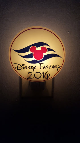 Customizable Color or B&W Disney Cruise Night Light FE Fish Extender Disney Cruise Gift