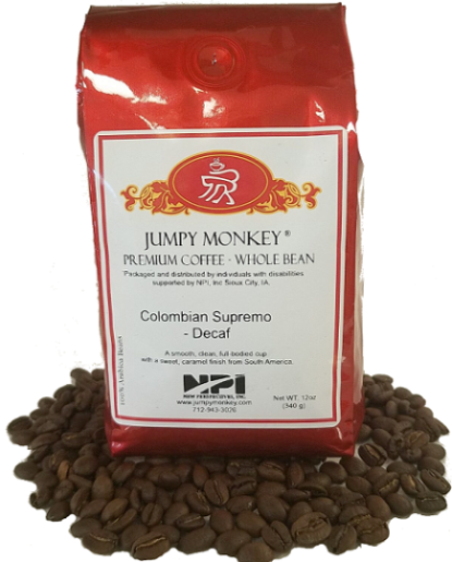 Colombian Decaf - Mountain Water Process - Jumpy Monkey® Coffee