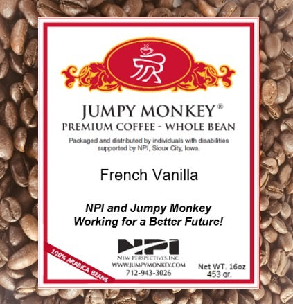 French Vanilla -  rich, buttery vanilla - Jumpy Monkey® Coffee
