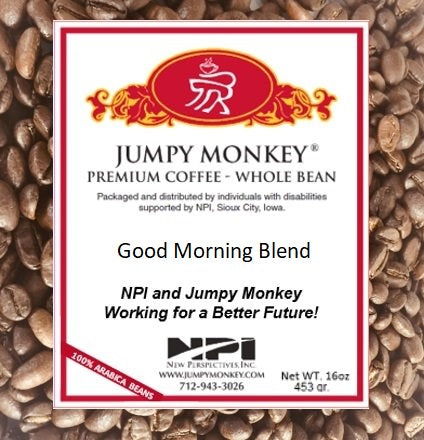 Good Morning Blend - medium body, sweet notes - Jumpy Monkey® Coffee