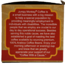 Jumpy Monkey Coffee With a cause single serve k-cups
