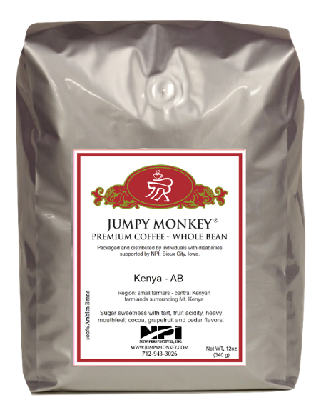 Kenya AB - smooth, bright, vibrant flavors - Jumpy Monkey® Coffee