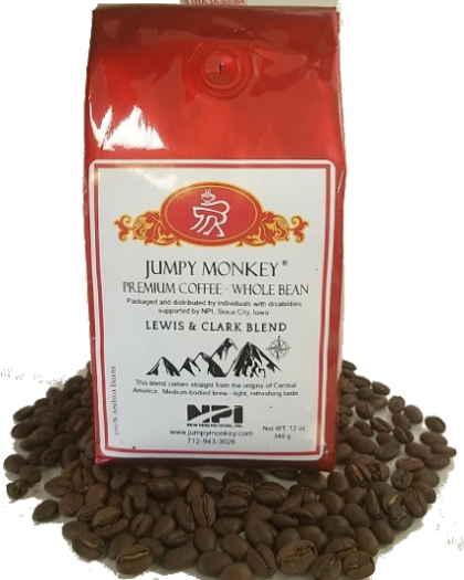 Lewis & Clark Blend - medium bodied brew - Jumpy Monkey® Coffee