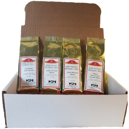 Non-Flavored Sampler - 4 samples - Jumpy Monkey® Coffee