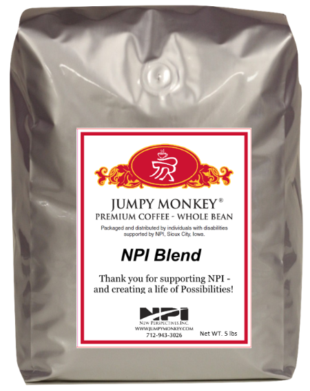 NPI Blend - smooth, slightly smoky, full bodied - Jumpy Monkey® Coffee