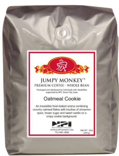 Oatmeal Cookie - cinnamon spice, brown sugar, vanilla - Jumpy Monkey® Coffee