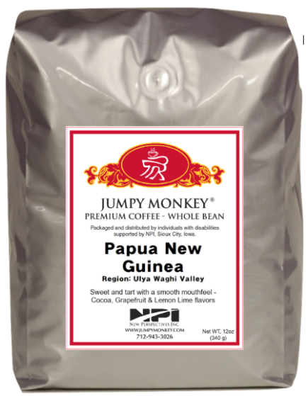 Papua New Guinea - sweet, tart, lemon-lime flavors