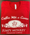 Jumpy Monkey Red T-Shirt - Jumpy Monkey® Coffee
