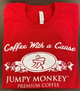 Jumpy Monkey Red T-Shirt