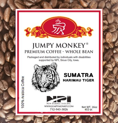 Sumatra Harimau Tiger - Jumpy Monkey® Coffee
