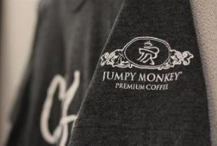 Jumpy Monkey T-Shirt - Short Sleeve, Jersey Knit Fabric
