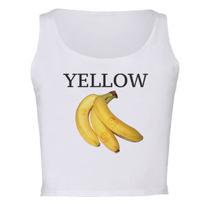 Yellow Banana Cropped Tank - Kurolabel Brand